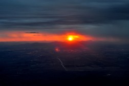Phoenix Sunset from the Plane - Day 1