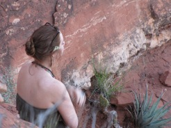 Jaqui Woish meditating in Sedona